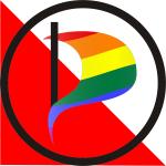 Logo Piratenpartij Utrecht Coming Out Dag 2018