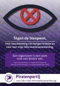 Komende zaterdag: Anti-sleepwetflyeractie Stadhuisbrug